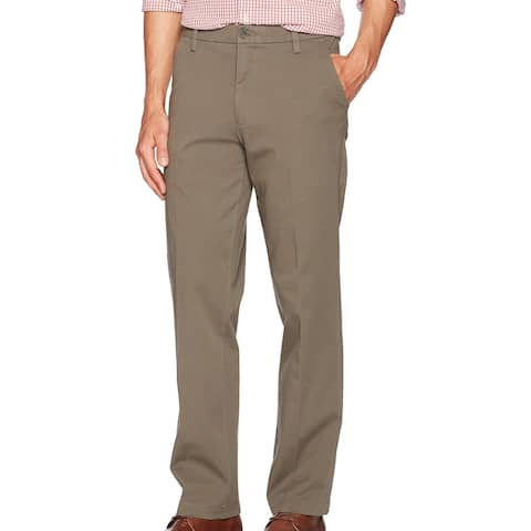 Dockers Mens Workday Khaki Pants Taupe Beige 38x29 Stretch Straight Fit