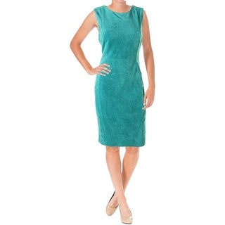 Calvin Klein Womens Faux Suede Sleeveless Wear to Work Dress
