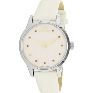 88 Rue Du Rhone Women's Rive 87WA153209 White Leather Swiss Quartz Fashion Watch