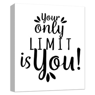 """PTM Images 9-124807  PTM Canvas Collection 10"""" x 8"""" - """"Your Limit"""" Giclee Sayings & Quotes Art Print on Canvas"""