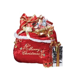 California Costumes Embroidered Santa's Bag Accessory - Red