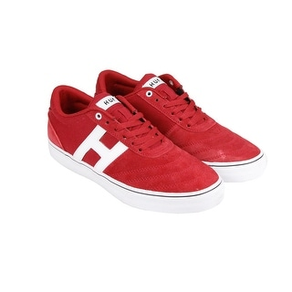 HUF Galaxy Mens Red Suede Lace Up Sneakers Shoes