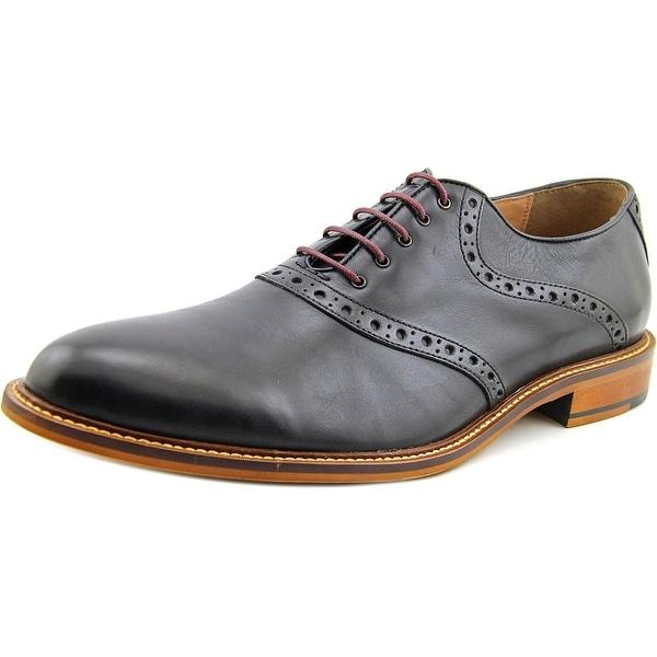 Aston Grey Collection Tokyo Men Plain Toe Leather Black Oxford