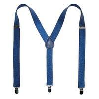 CTM® Women's Elastic Glitter Suspenders