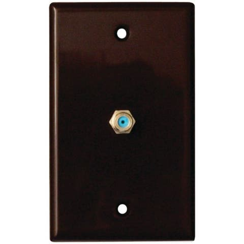 DATACOMM ELECTRONICS 32-2024-BR 2.4GHz Coaxial Wall Plate (Brown) - Pictured