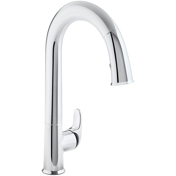 Kohler K-72218-B7 Sensate Touchless Pullout High Arch Kitchen Faucet with Grey Cap, Response and DockNetik Technologies