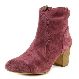 Steve Madden Hipster Women Round Toe Synthetic Burgundy Bootie