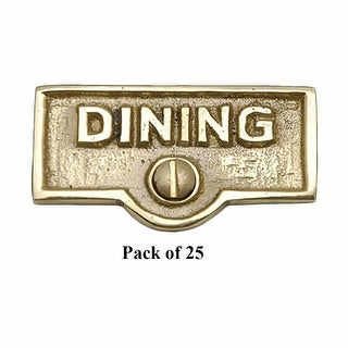 25 Switch Plate Tags DINING Name Signs Labels Lacquered Brass Renovator's Supply