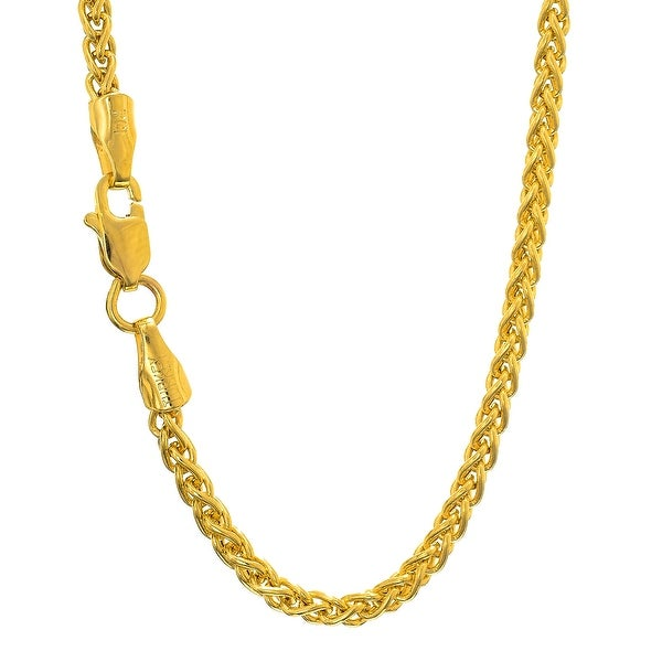 Mcs Jewelry Inc 14 KARAT YELLOW GOLD LIGHT WEIGHT WHEAT CHAIN NECKLACE (3.3MM)