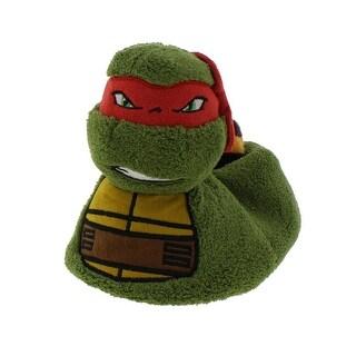 Teenage Mutant Ninja Turtles Boys Novelty Slippers Plush Cartoon - 9-10 medium (d)