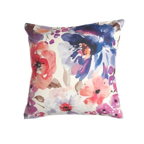 """Watercolor Garden Indoor Outdoor Decorative Pillow - Multi (20"""" x 20"""")"""