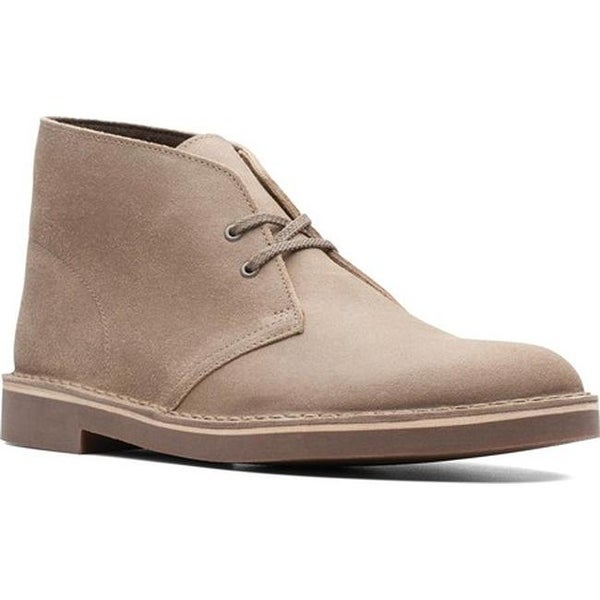 shop clarks men s bushacre 2 boot taupe distressed suede free