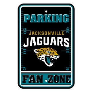 FREMONT DIE Inc Jacksonville Jaguars Plastic Parking Sign - Fan Zone Plastic Parking Sign - Fan Zone