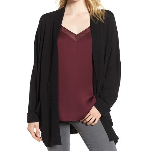 Chelsea28 Womens Sweater Small Cardigan Open-Front Cuffed
