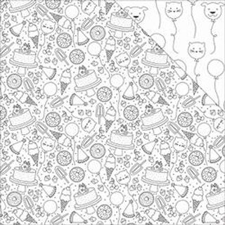 """Birthday - Hall Pass Adult Coloring Double-Sided Cardstock 12""""X12"""""""