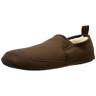 Dockers Mens Faux Suede Slip On Loafer Slippers