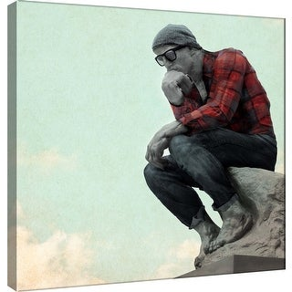 "PTM Images 9-101193  PTM Canvas Collection 12"" x 12"" - ""Hipster Thinker"" Giclee Men Art Print on Canvas"