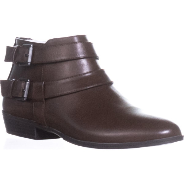 SC35 Deenah Double Buckle Ankle Booties, Chocolate - 7 us