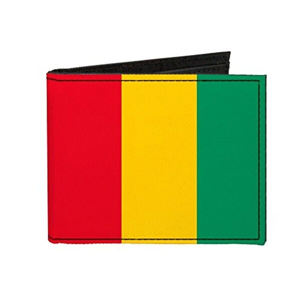 Buckle-Down Canvas Bi-fold Wallet - Guinea Flag Accessory