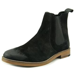 Crevo Denham Men Round Toe Suede Black Boot