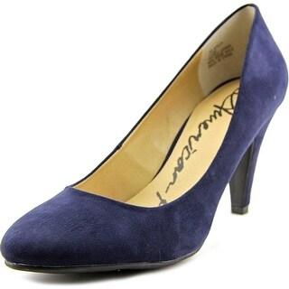 American Rag Afelix Women Round Toe Canvas Blue Heels