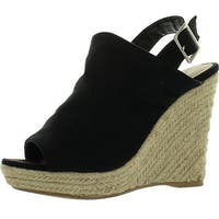 Breckelles Denise-21 Womens Sling Back Espadrille Wedge Heels