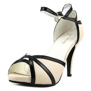 Get More Beauty Buckle Dress Open Toe Leather Platform Sandal
