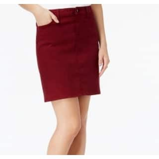 Tommy Hilfiger NEW Wine Red Womens Size 16 Denim Straight Mini Skirt|https://ak1.ostkcdn.com/images/products/is/images/direct/bf97633052b55e106fa0a429e1874c3fd560f433/Tommy-Hilfiger-NEW-Wine-Red-Womens-Size-16-Denim-Straight-Mini-Skirt.jpg?impolicy=medium