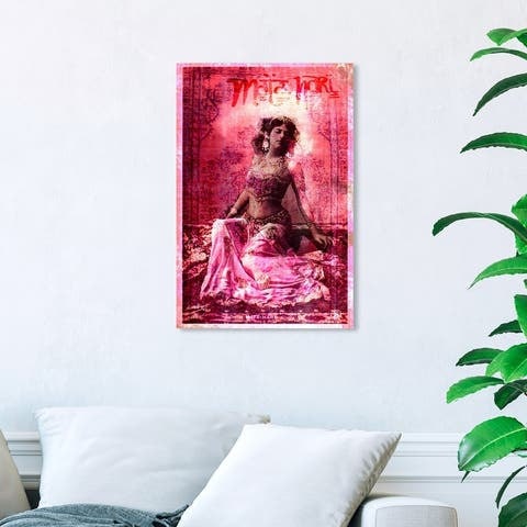 Oliver Gal 'Mata Hari' People and Portraits Wall Art Canvas Print Celebrities - Pink, White