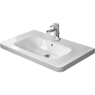 "Duravit 2320800000 DuraStyle 31-1/2"" Ceramic Bathroom Sink for Vanity, Wall Mounted or Pedestal Installations with Single Faucet"