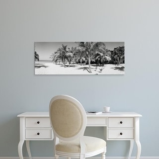 Easy Art Prints Panoramic Images's 'Palm trees on the beach, Negril, Jamaica' Premium Canvas Art