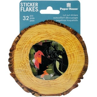 Paper House Sticker Flakes Cut Out Stickers 32/Pkg-Outdoors