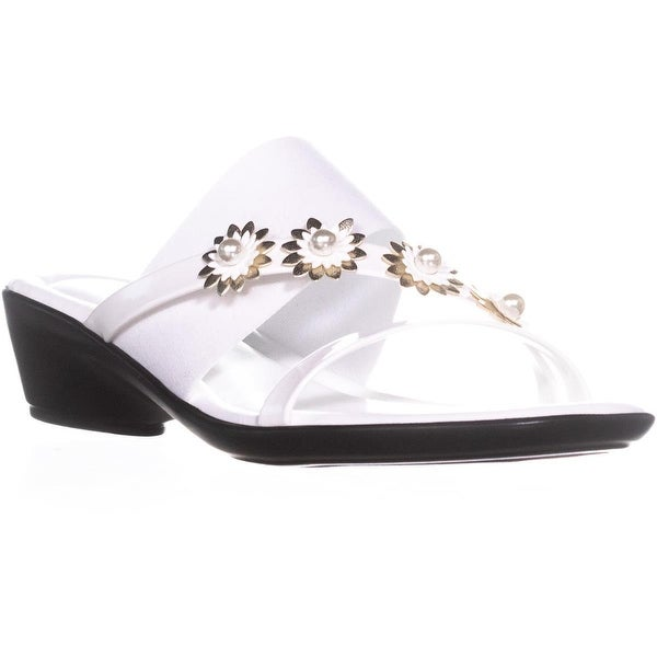 Tuscany by Easy Street Paradiso Flower Wedge Sandals, White Patent - 8 n us