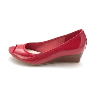 Cole Haan Womens 10A3108H Open Toe Wedge Pumps Tango Red Size 6.0