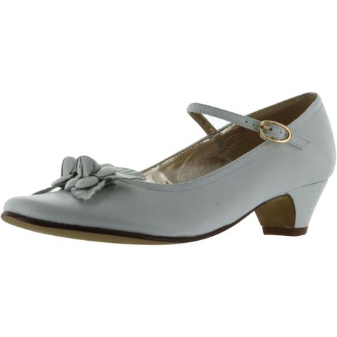 Amiana Girls 6/A0257 Party Communion Wedding Shoes - White