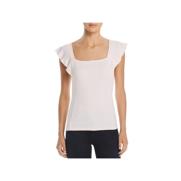 234780c3d6 Shop Three Dots Womens Tank Top Square Neck Flutter Sleeves - Free ...