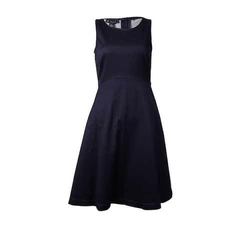 International Concepts Women's Stretchy Fit Flare Dress (2, Indigo)