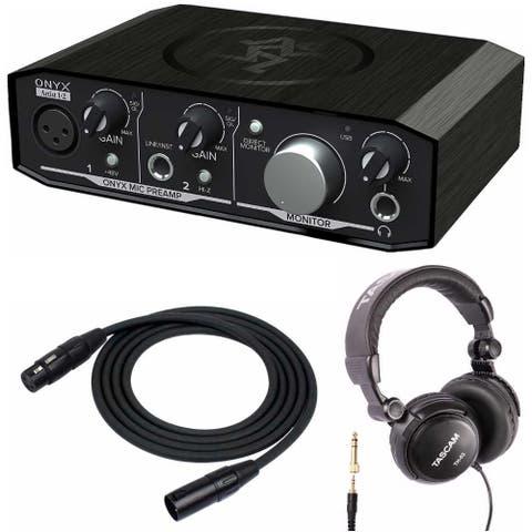 Mackie Onyx Artist 1-2 USB Audio Interface with XLR Cable & Headphones