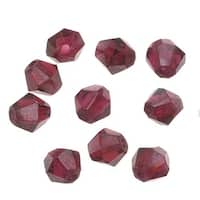 Garnet Gemstone Faceted Bicone Beads 3-4mm (50 Pieces)