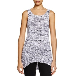 Two by Vince Camuto Womens Morning Sky Tank Top Sweater Hi-Low Marled