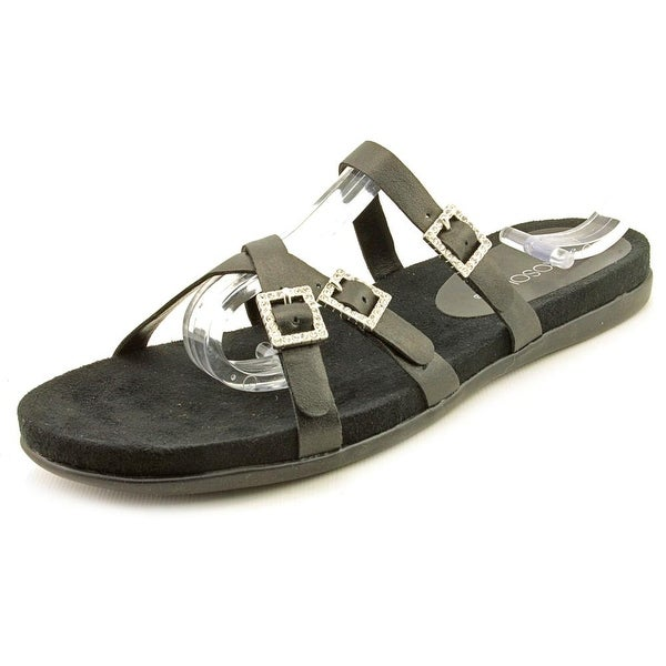 Aerosoles Disc E Business Women Open Toe Synthetic Black Slides Sandal