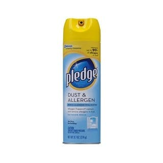 Pledge 72375 Dust & Allergen Furniture Spray, 9.7 Oz|https://ak1.ostkcdn.com/images/products/is/images/direct/bf9dc5091ae9b4ee23a377dfbff00f845c7c89b3/Pledge-72375-Dust-%26-Allergen-Furniture-Spray%2C-9.7-Oz.jpg?impolicy=medium