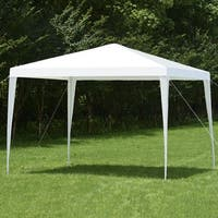 Costway Wedding Party Event Tent Outdoor Canopy 10'x10' Gazebo Pavilion Cater Heavy Duty - White
