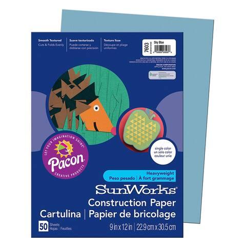 Sunworks (25 pk) construction paper sky blue 7603bn