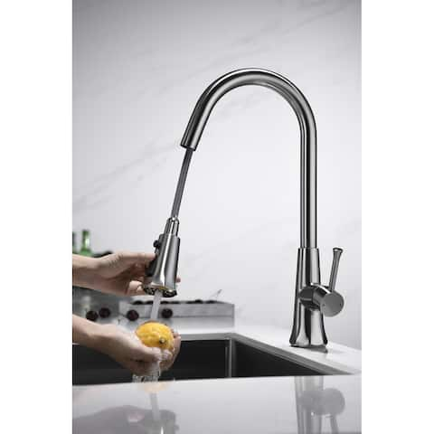 Single Handle Pull-out Kitchen Faucet Brushed Nickel