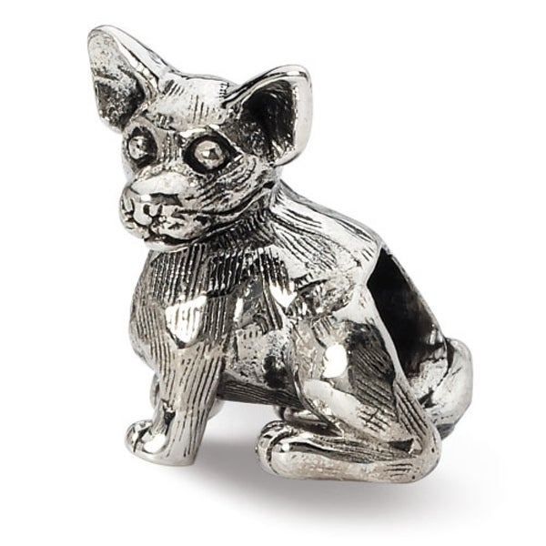Sterling Silver Reflections Chihuahua Bead (4mm Diameter Hole)