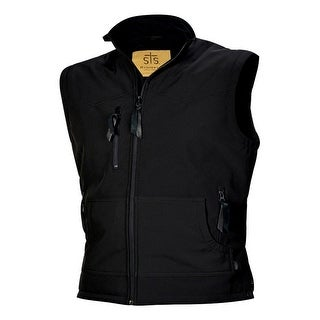 StS Ranchwear Western Vest Mens Barrier Zipper Front Black