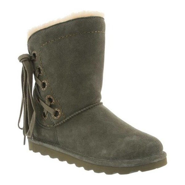 f5a5966c0 Shop Bearpaw Women's Morgan Boot Olive Cow Suede - Free Shipping ...