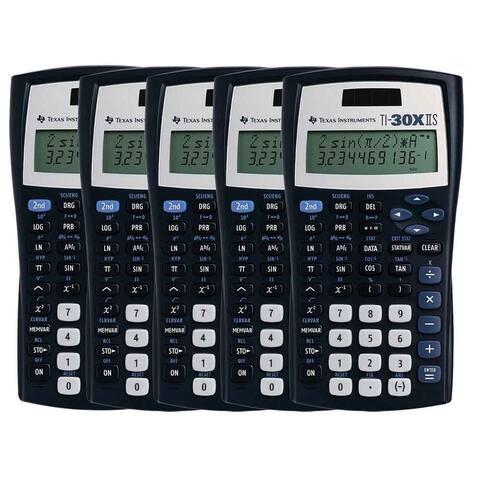 Texas Instruments 30XIISTKT1L1B (5-Pack) Texas Instruments TI-30X IIS Scientific Calculator - LCD - Battery/Solar Powered