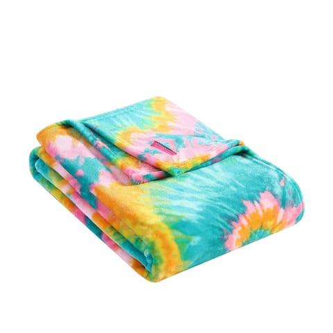 Betsey Johnson Tie Dye Love Ultra Soft Plush Throw Blanket
